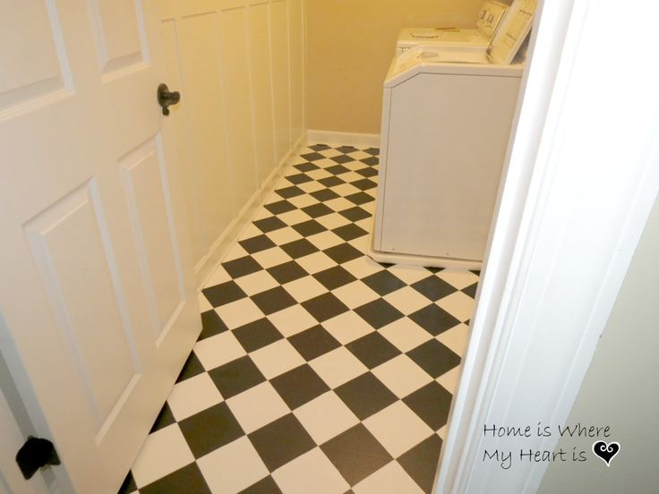 How to paint linoleum floors like the harlequin pattern for Paint for linoleum floors in bathroom