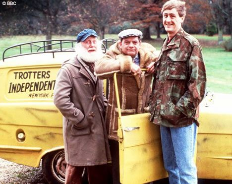 "Only Fools and Horses. Forever funny. Del Boy is a legend. ""Hello Trigger"" ""Hi ya Dave"" - LOL!!"