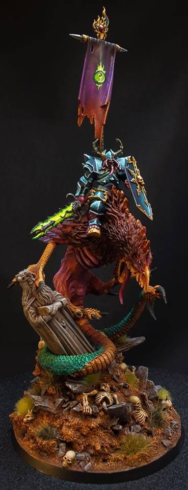Warhammer Age of Sigmar | Tzeentch Arcanites | Chaos Lord of Tzeentch #warhammer #ageofsigmar #aos #sigmar #wh #whfb #gw #gamesworkshop #wellofeternity #miniatures #wargaming #hobby #fantasy