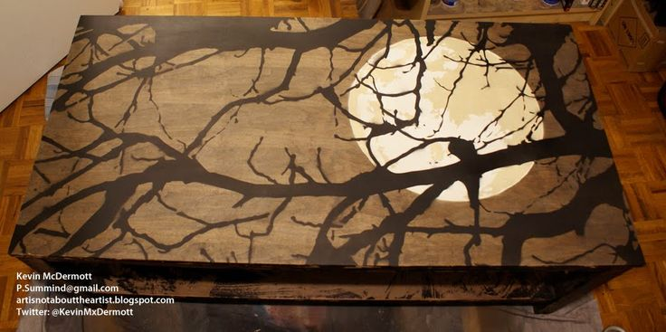 awesome tree moon table top !