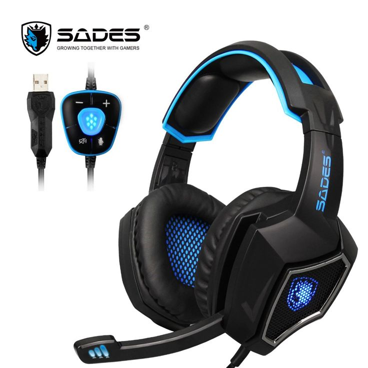 Buy online US $26.99  SADES Spirit Wolf 7.1 Surround Sound Stereo USB Gaming Headphone with Mic Breathing LED Light For PC Gamers  Search here: Samsung