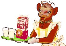 Elsie the Cow with her Milk..I remember this brand! I also remember wearing a Borden's cottage cheese container on my head as a hat....:)