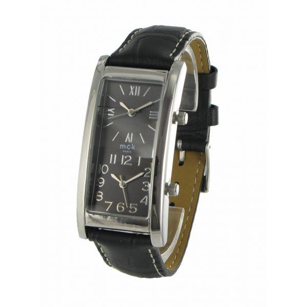 http://unemontretendance.com/831-montre-double-cadran-argente-et-cuir-noir-mck.html