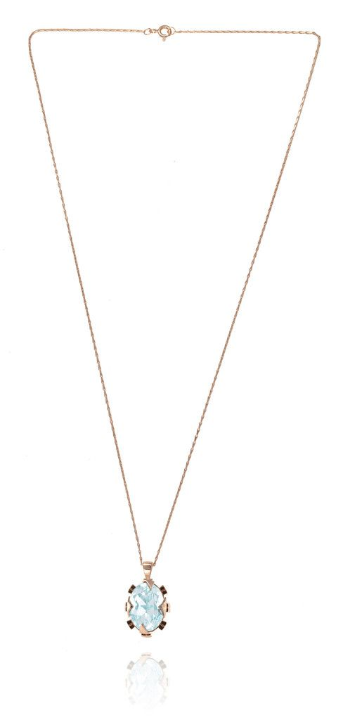 Cabinet Luxury British Jewellery | Azure Swarovski Rose Gold Necklace – available to buy on www.hoochiemama.me #unique #necklaces #uk #designer #necklace #gold #silver #jewellery #jewelry