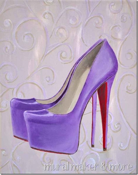 Image result for paintings of purple platform shoes by famous artists