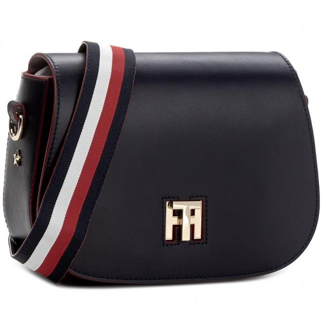 Torebka TOMMY HILFIGER - Th Twist Saddle Bag Leather Corperate AW0AW04543  413