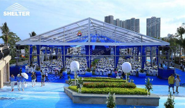 SHELTER Clear Span Transparent Luxury Reception Marquee for Sale