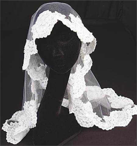 White Illusion Tulle Mantilla Veil for Wedding Ceremonies, First Communions, or Other Religious Services by Factory Direct Wedding  WEDDING ACCESSORIES. If you would like to buy this item just click on amazon below the Pinterest Pin, this takes you right to the amazon page.  http://www.amazon.com/gp/product/B003JMRVQ2?ie=UTF8=213733=393185=B003JMRVQ2=shr=abacusonlines-20&=apparel=1365376388=1-101=wedding+veils