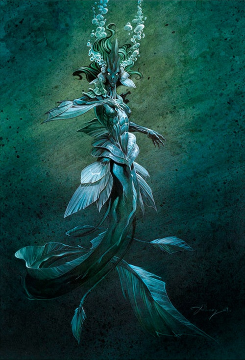Anthony Jean | cool merfolk/mermaid photo. #WotA #merfolk are somewhere inbetween this extreme and the Disney one