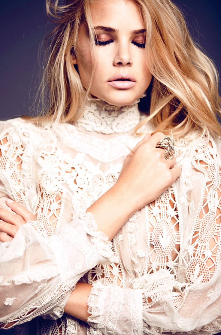 With something under it, this could make a cute vintage looking wedding outfit. Tori Praver by Nacho Ricci for Harpers Bazaar Argentina