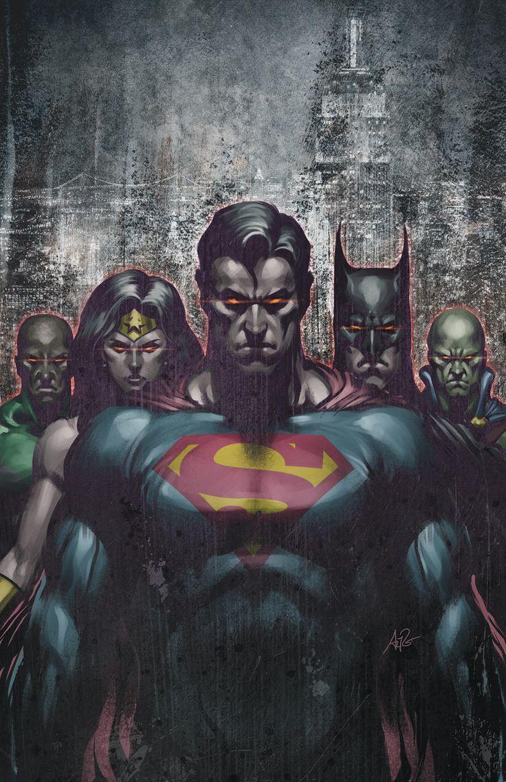 Justice League by Artgerm http://www.comicbookresources.com/images/solicits/dccomics/201104/dcu/JLA_80pg_CYMK.jpg - visit to grab an unforgettable cool 3D Super Hero T-Shirt!