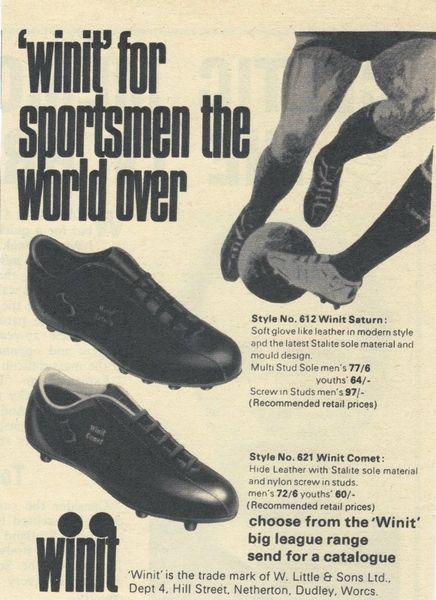1970 'Winit' Football Boots Ad
