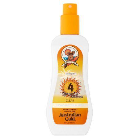 Australian Gold Board Spectrum SPF 4 Spray Gel Sunscreen, 4 fl oz