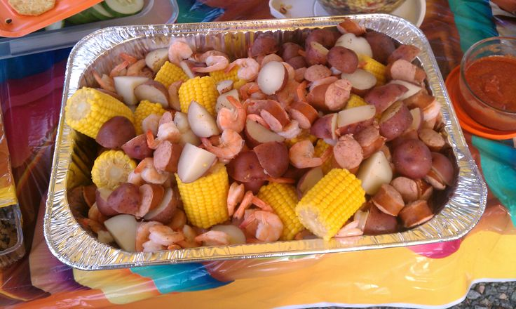 Low Country Boil, great for tailgating.