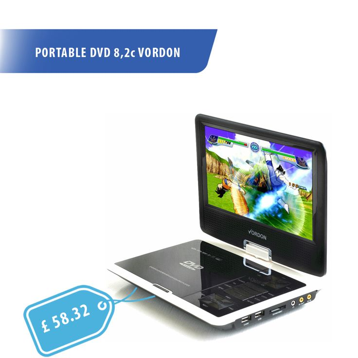 If you have big DVD movie collection you will probably appreciate our Portable DVD player with 8.2 inch screen :)   http://turanshop.co.uk/vordon/51881-portable-dvd-82c-vordon.html?  #dvd #portable #dvdtv #usb #mp3 #dvdmovies