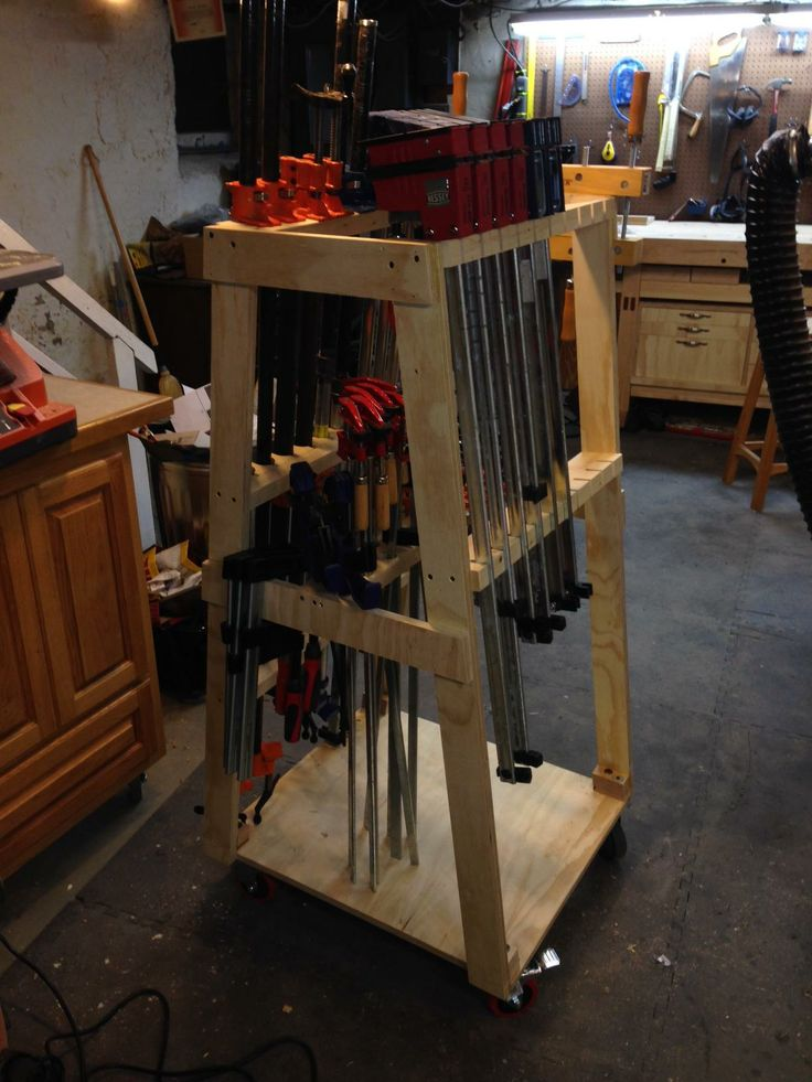 Mobile Clamp Rack Woodworking Projects Amp Plans