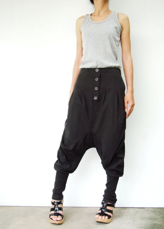 NO.64   Dark Grey CottonBlend Casual Baggy Dance by JoozieCotton, $44.00