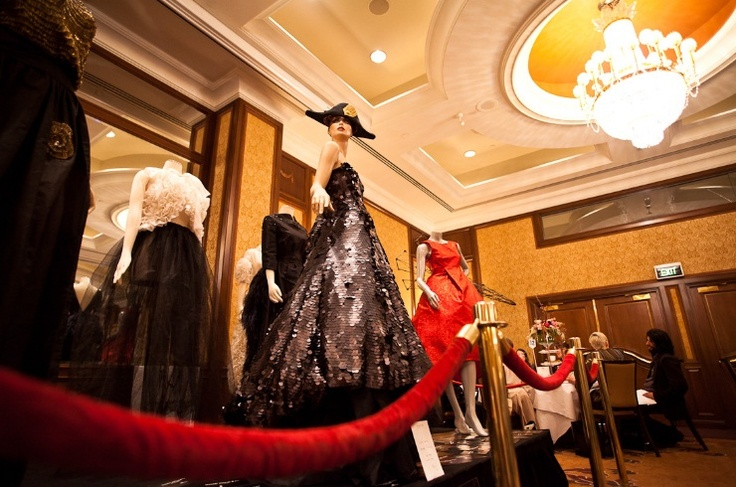 L'Heure du Thé event in 2011. Haute couture installation by Madame Virtue.