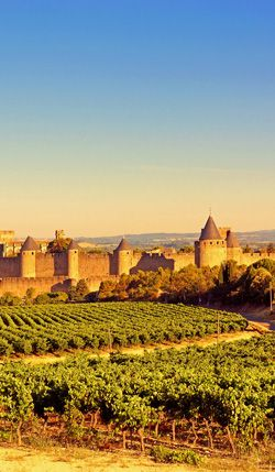 The medieval fortified City  of Carcassonne is included in our Top 6 places to visit while cruising on the Canal du Midi in the South of France
