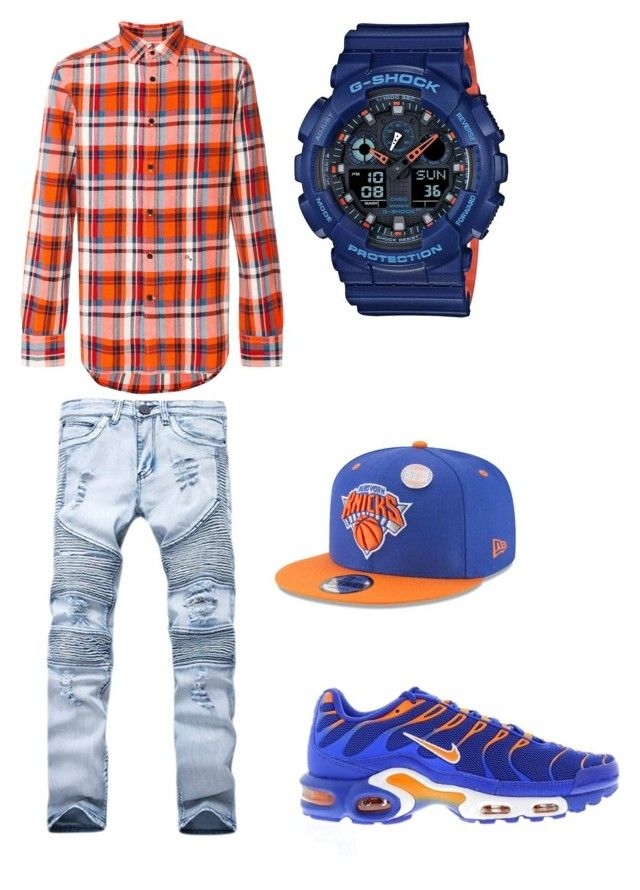 Knicks by tikitress on Polyvore featuring Diesel, G-Shock, New Era, NIKE, men's fashion and menswear