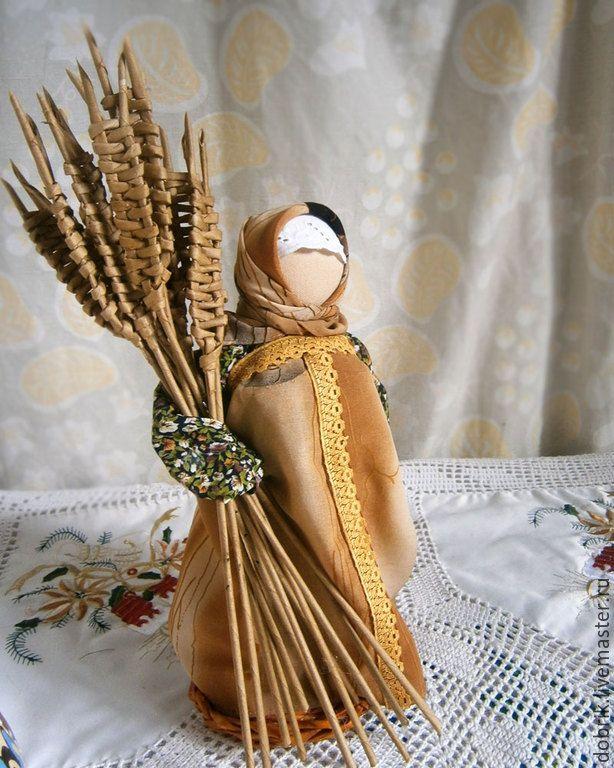 Купить Народная кукла оберег – На достаток - бежевый, народная кукла, кукла оберег