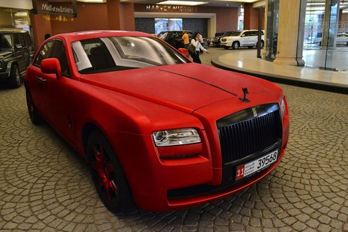 matte red rolls royce ghost