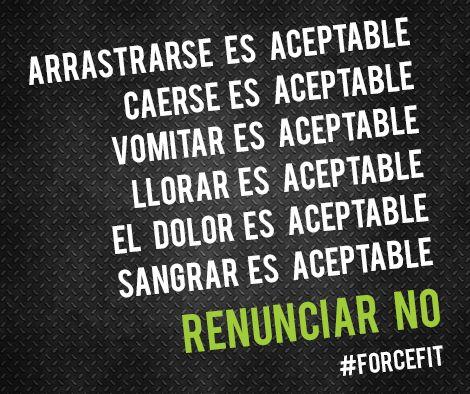 #Motivacion #Frases #Inspiracion #Fitness #Crossfit #Vida Renunciar no es aceptable