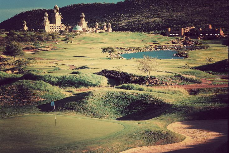 Lost City Golf Course-South Africa- watch out for the Nile crocs and monkeys stealing your g-balls.