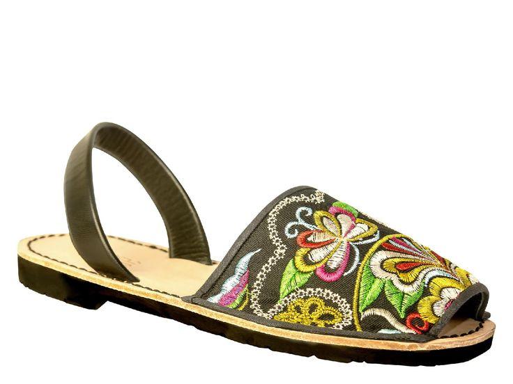 QuoQue menorquinas in small multicolor textile - Italian Boutique €45