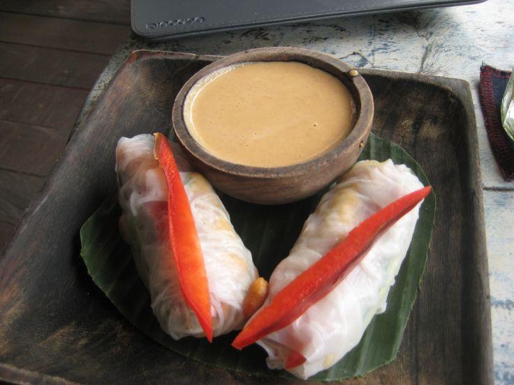 summer rolls at KAFE in Ubud, Bali