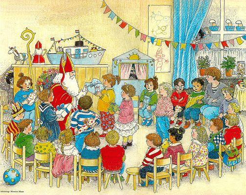 Vertelplaat: Sinterklaas in de klas