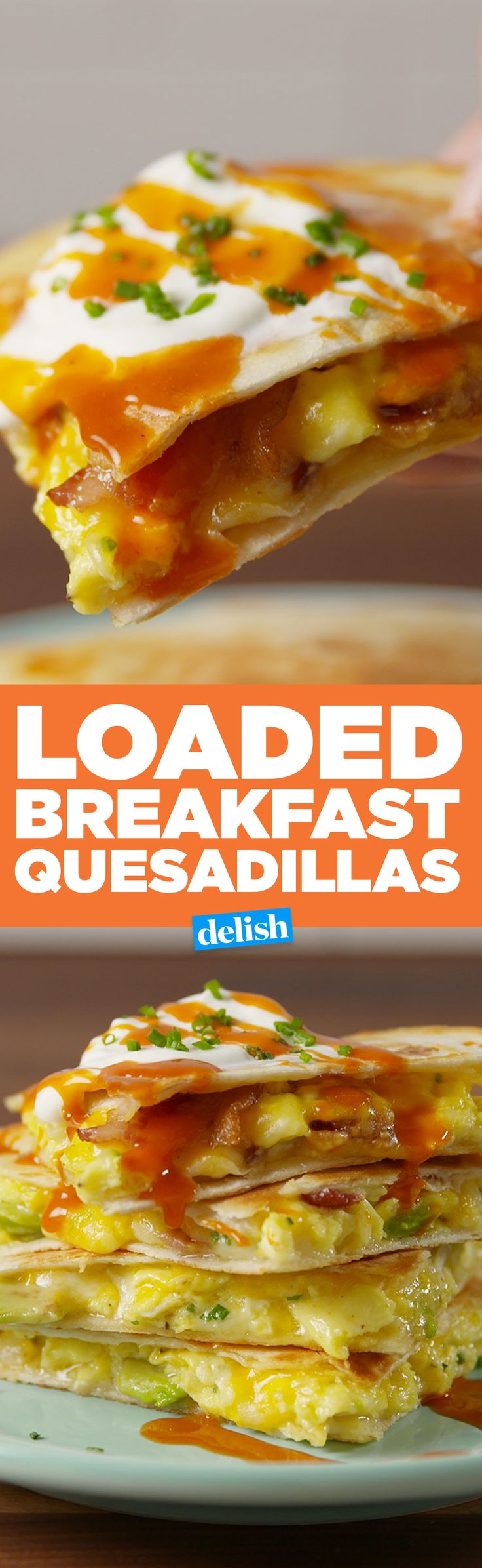 Breakfast sandwiches are great, but have you tried Loaded Breakfast Quesadillas? Get the recipe on Delish.com.