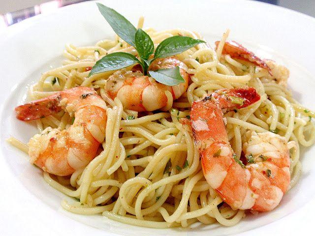 Resepi Spaghetti Aglio Olio Seafood | Teratak Jelata