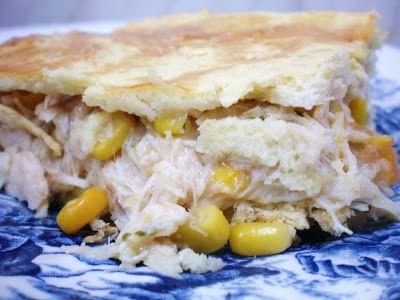Torta Cremosa de Frango com massa levíssima | Blog Figos & Funghis