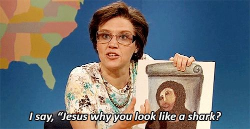 Asks the tough questions. | 19 Reasons Kate McKinnon Is A Gift To Us All