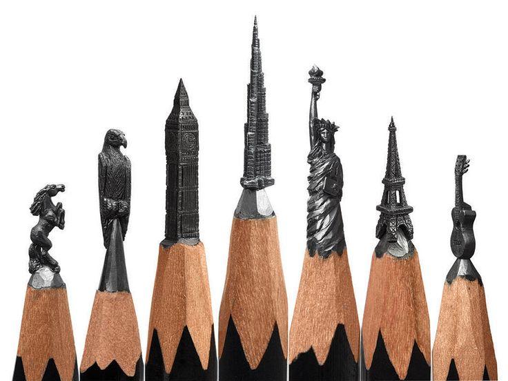 Artist Salavat Fidai Creates Micro Sculptures From Pencils