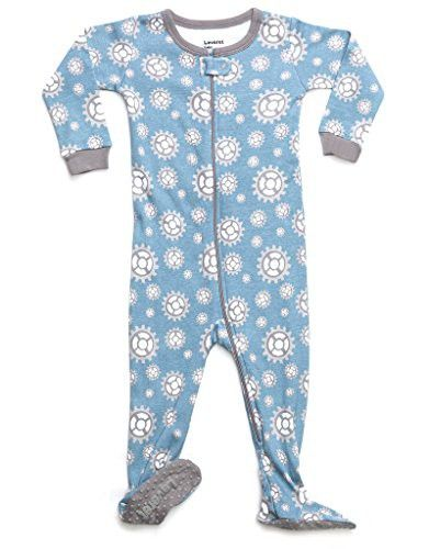 2f9995ecf Leveret Organic Cotton Gears Footed Pajama Sleeper 12-18 Months