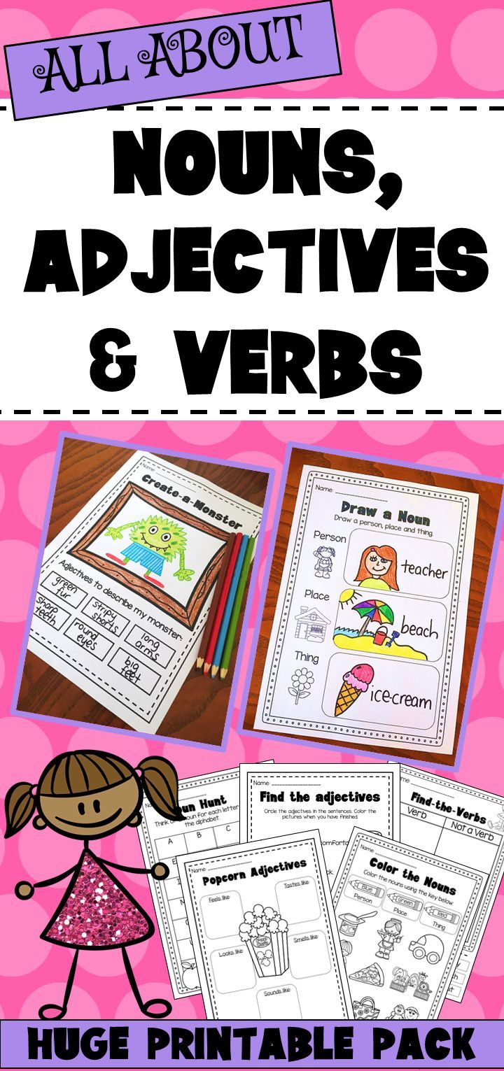 english grammar about noun pronoun verb adjective pdf