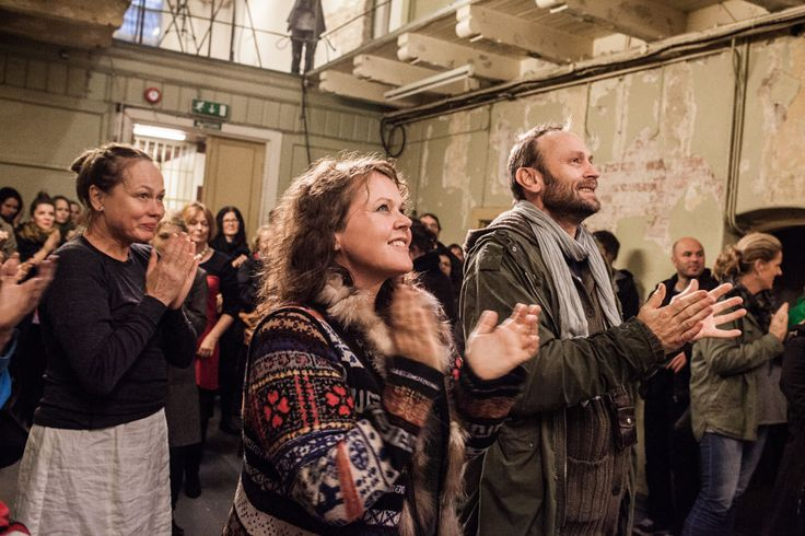 Audience listening to our choir perform Beethoven's Prisoners' Chorus at Bergen's Old Prison. Photo: Magnus Skrede
