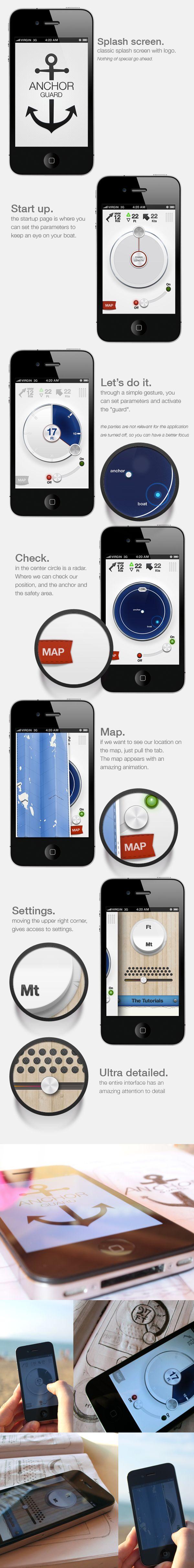 Anchor Guard (for iOS) by Marco Nenzi, via Behance