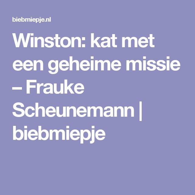 Winston: kat met een geheime missie – Frauke Scheunemann | biebmiepje