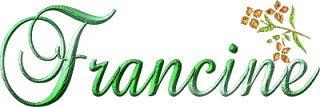 Prénom - Francine