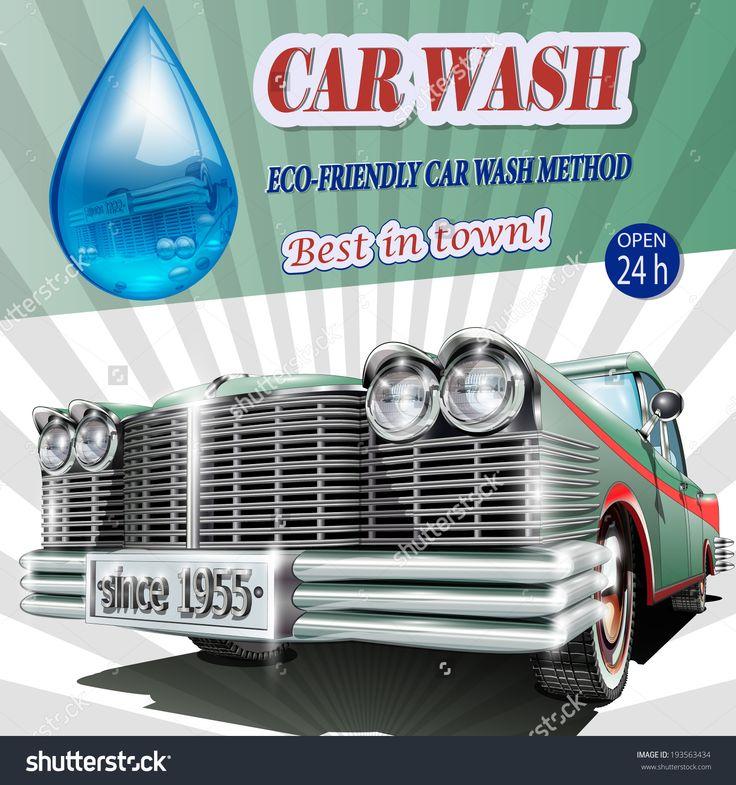 25 best car detailing images on pinterest car detailing car wash car wash retro poster solutioingenieria Choice Image