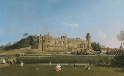 Canaletto, 1697–1768, Italian, active in Britain (1746-1755), Warwick Castle, 1748 to 1749, Oil on canvas, Yale Center for British Art, Paul Mellon Collection