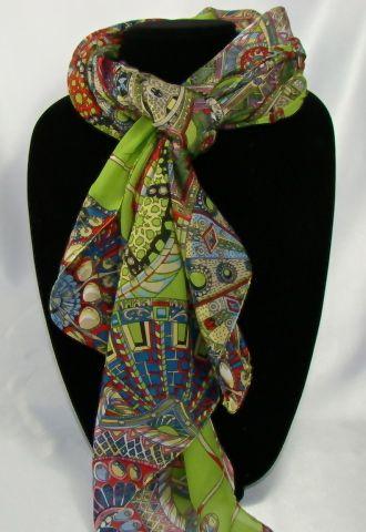 Comfortable Women's wagon prints soft shawl, 163cmx53cm long scarf, Material: 100% Chiffon Silk scarf. #C118