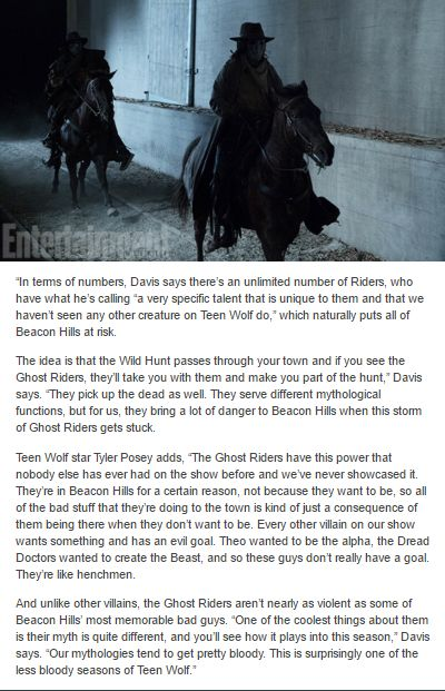 #TeenWolf #Season6 - SPOILER - Looks like Stiles is going to be taken by the Ghost Riders