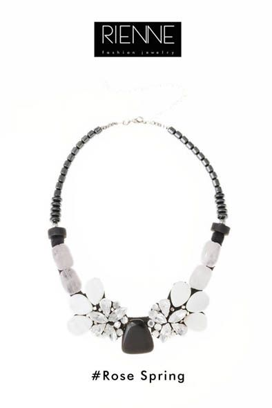 Rienne Creations statement jewelry spring/summer 2013 crystal necklace