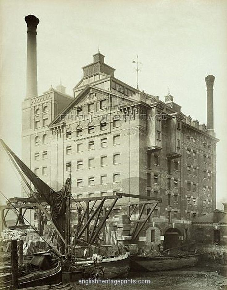 Robinsons Flour Mill, Deptford, London 1883