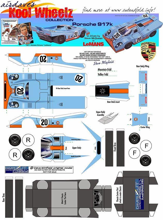391 Best Race Cars Papercraft Images On Pinterest