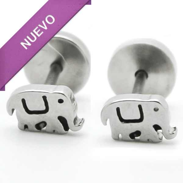 Joyas de Acero-Aros-EA0825. Aro de niñita con tornillo de tope, tamaño 5 mm.